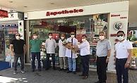 CHP Alanya'dan, eczacılara ziyaret