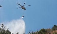 Alanya'da ormanlık alanda yangın çıktı!