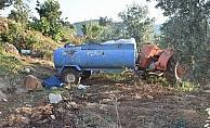 Tarlasına su taşıyan çiftçi traktör kazasında öldü
