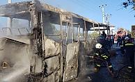 Alanya'da korku dolu anlar! Otobüs cayır cayır yandı