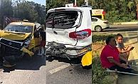 Alanya'da engelli sürücü ve ailesi kırmızı ışıkta ölümden döndü
