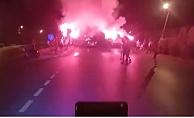 Alanyaspor, kupa finaline meşalelerle uğurlandı