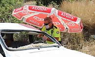 Gazipaşa'da kavurucu sıcak polis memurunu da vurdu
