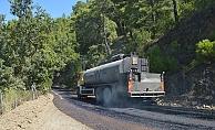 Alanya Çamlıca yolu asfaltlanıyor