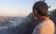 Çalılık alan yangını ormanı tehdit ediyor