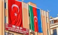 Alanya MHP'den Azerbaycan'a bayraklı destek!