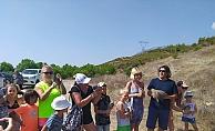 Alanya'da turistler keklik uçurdu