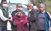 Eşinin ölüm haberini alıp olay yerine gelen kadın gözyaşlarına boğuldu