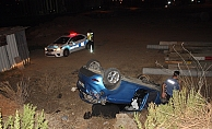 Şarampole uçan otomobilin yaralı sürücüsü 154 promil alkollü çıktı