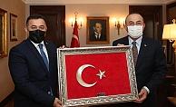 Yücel'den Bakan Çavuşoğlu'na ziyaret