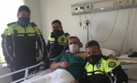 Alanya'da trafik polisi kalp krizi geçirdi