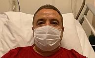 Bilinci yerinde olan Başkan Böcek'e enfeksiyon tedavisi uygulanıyor