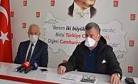 Nuri Demir, CHP ilçe Başkanı Karadağ'ı ziyaret etti