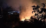 Yangın, mahalleliyle korku dolu anlar yaşattı