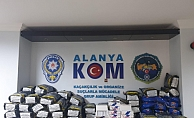 Alanya'da polisten kaçak tütün operasyonu