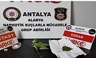 Alanya'da uyuşturucu ticaretine polis baskını