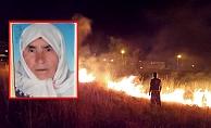 Bahçedeki otları yakarken yanan kadın öldü