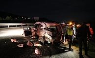 Otomobilin çarptığı hafif ticari araç sürücüsü öldü