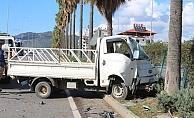 Gazipaşa'da otomobilin arkadan çarptığı kamyonetin sürücüsü hayatını kaybetti