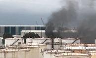 Gemi yapım atölyesinde çıkan yangın maddi zarara neden oldu