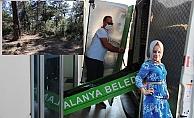 Alanya'da eşinin boğup, kepçe ile gömdüğü kadının cenazesi adli tıpta