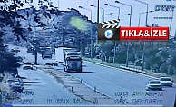Alanya'da feci kaza kameraya yansıdı