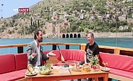 """TRT'nin sevilen programı """"Vapurda Çay Simit"""" Alanya'da çekildi"""