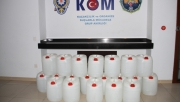 Alanya'da 500 litre etil alkol ele geçirildi