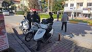 Polisten motosikletlilere yönelik denetim