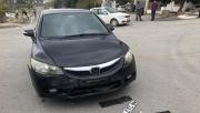 Feci kaza: araçlardan biri ters döndü