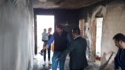 Çıkan yangında ev kül oldu