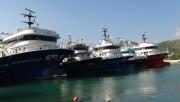 Fırtınadan kaçan gemiler  Gazipaşa limanına sığındı