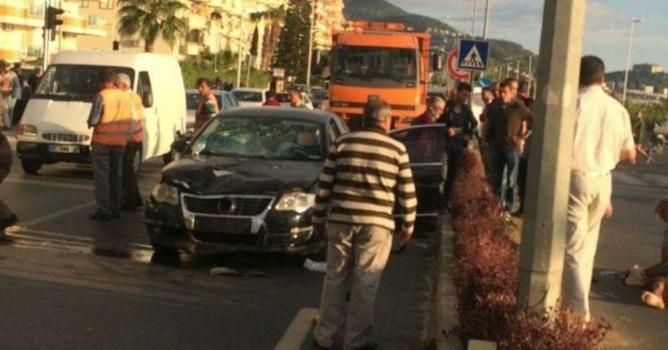 Yerleşik yabancı  kaza kurbanı oldu