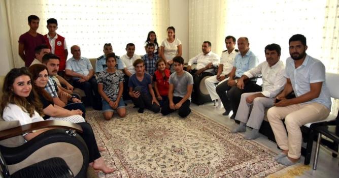 Yücel ve Harputlu'dan  şehit ailesine ziyaret