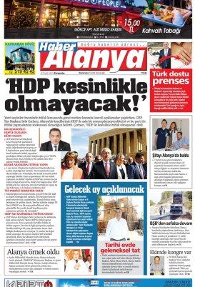 Haber Alanya - 12.09.2018 Manşeti