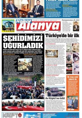 Haber Alanya - 13.11.2018 Manşeti