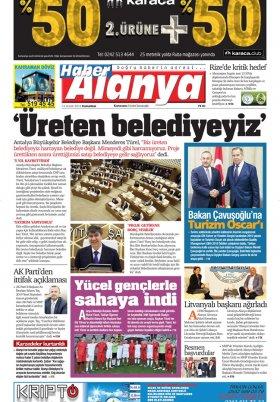 Haber Alanya - 15.12.2018 Manşeti