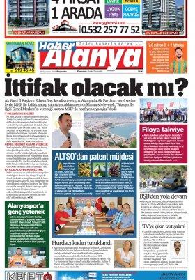Haber Alanya - 16.08.2018 Manşeti