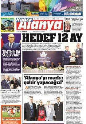Haber Alanya - 16.03.2019 Manşeti