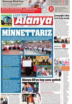 Haber Alanya - 16.07.2018 Manşeti