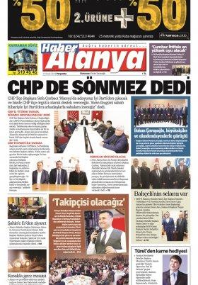 Haber Alanya - 17.01.2019 Manşeti