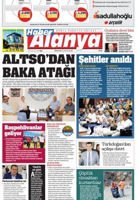 Haber Alanya - 17.07.2018 Manşeti