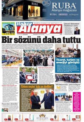 Haber Alanya - 18.04.2018 Manşeti