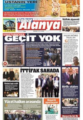 Haber Alanya - 18.01.2019 Manşeti