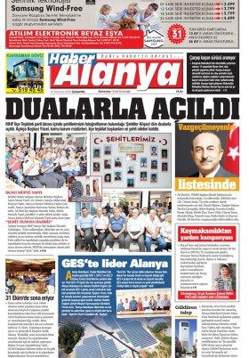 Haber Alanya - 18.07.2018 Manşeti
