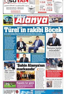 Haber Alanya - 19.12.2018 Manşeti