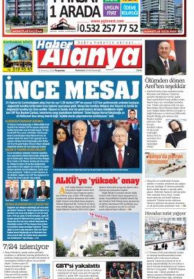 Haber Alanya - 19.07.2018 Manşeti