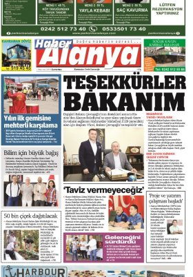 Haber Alanya - 0.06.2019 Manşeti