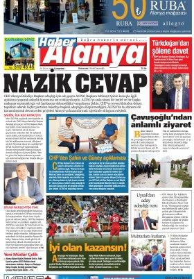 Haber Alanya - 20.10.2018 Manşeti