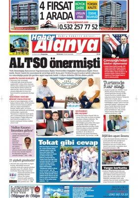 Haber Alanya - 20.09.2018 Manşeti